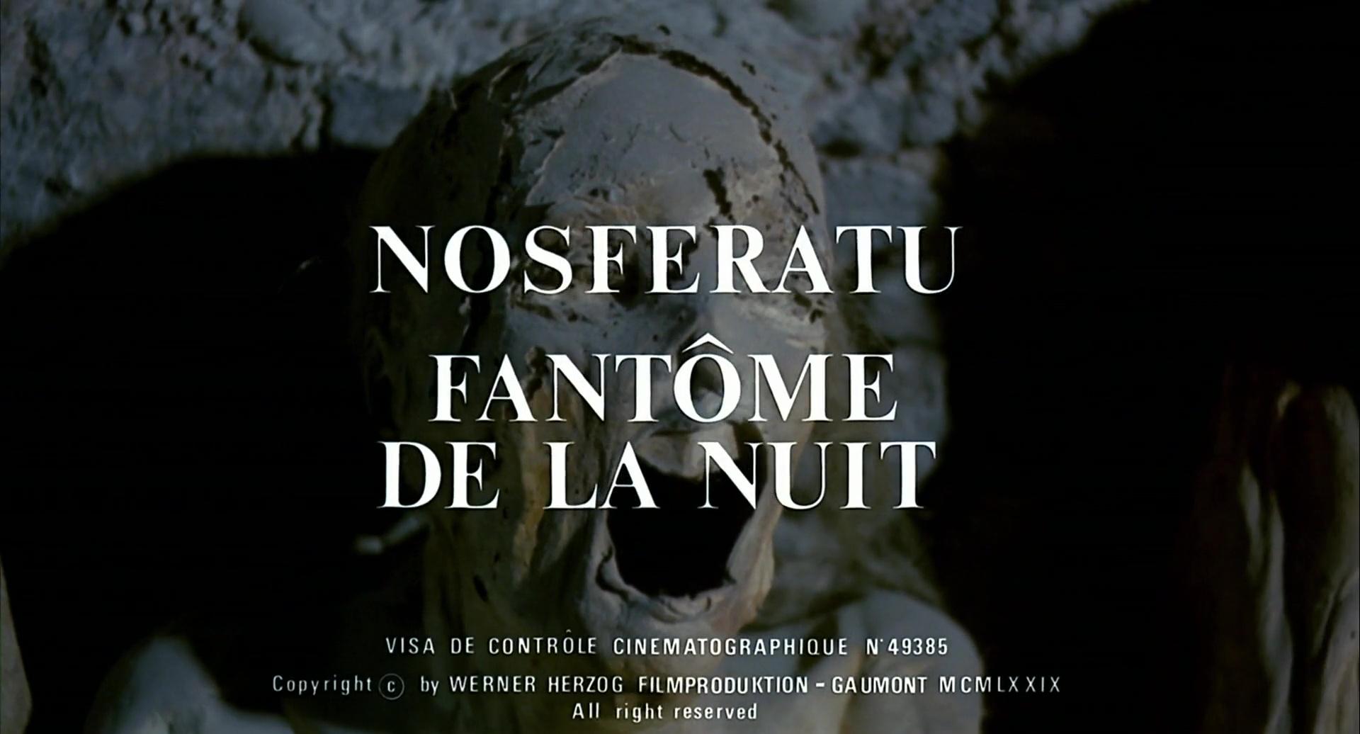NOSFERATU, FANTÔME DE LA NUIT (Nosferatu Phantom Der Nacht) de Werner Herzog (1979)