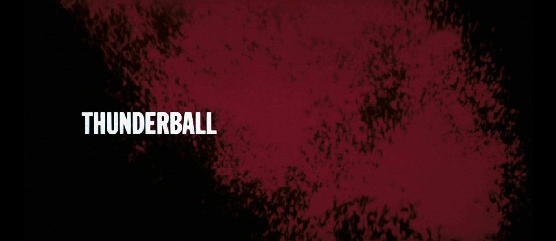 OPÉRATION TONNERRE (Thunderball) de Terence Young (1965)
