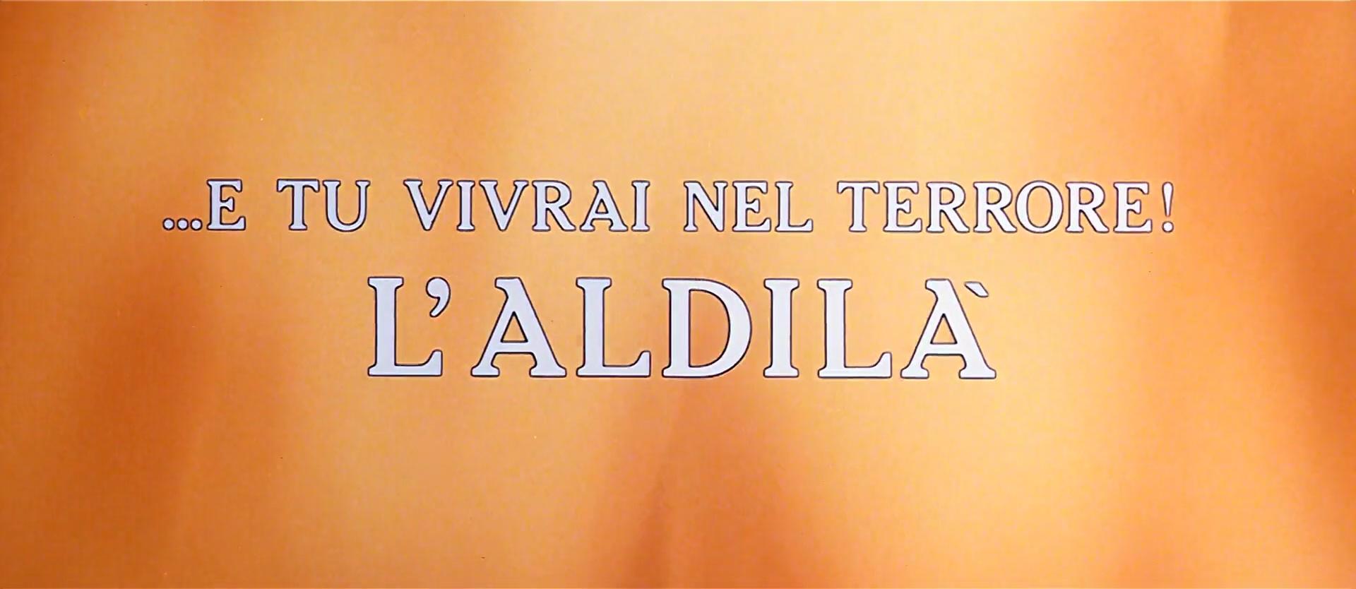 L'AU-DELÀ (…E Tu Vivrai Nel Terrore ! L'Aldilà) de Lucio Fulci (1981)