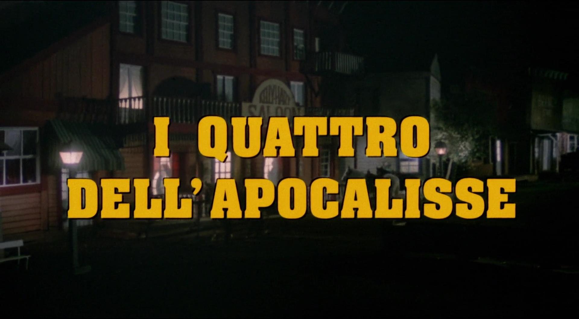 LES QUATRE DE L'APOCALYPSE (I Quattro dell'Apocalisse) de Lucio Fulci (1975)